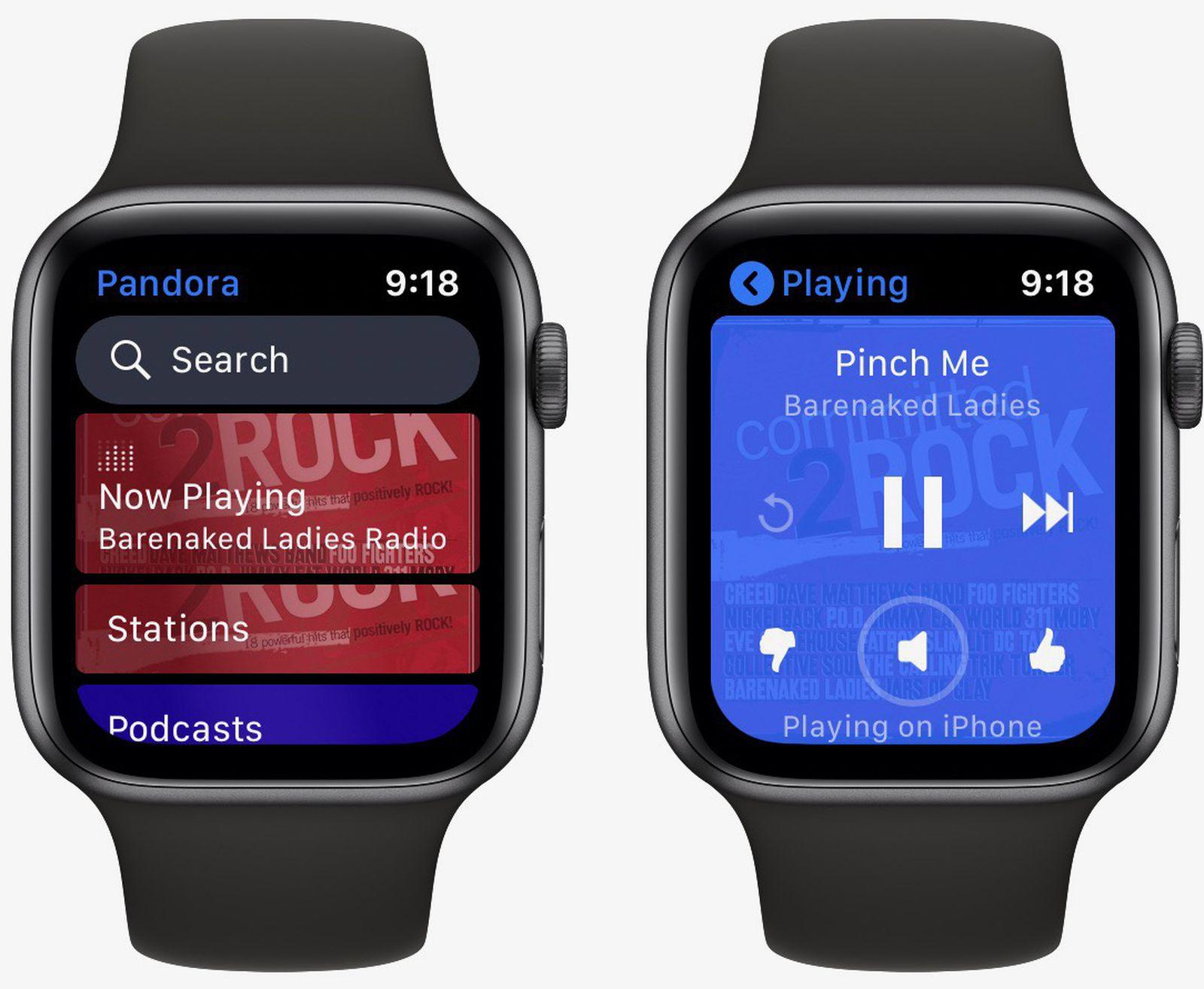 Pandora představuje samostatnou aplikaci Apple Watch, streamování hudby a podcasty bez nutnosti iPhone