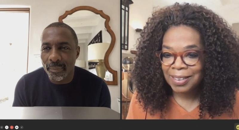 Snímek z pořadu Oprah Talks COVID-19