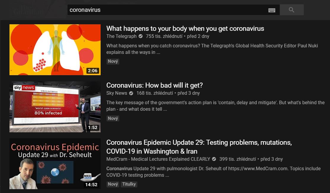 Rozčílení Youtubeři – YouTube demonetizuje videa o koronaviru