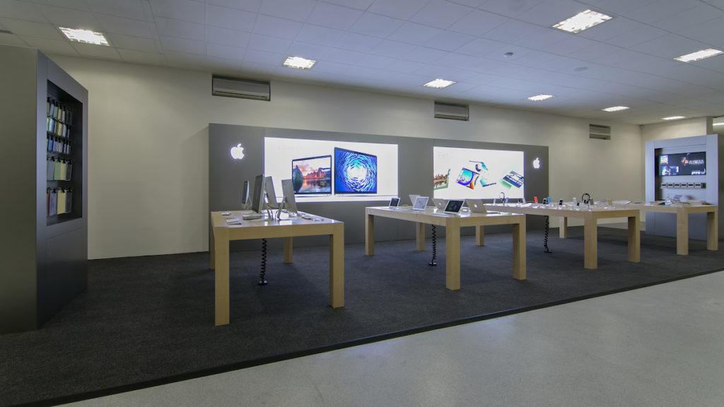 Prázdný obchod apple