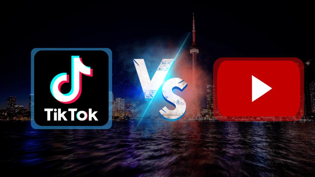 Obrázok znázorňující logo TikTok a YouTube