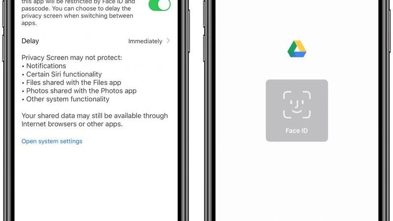 Aplikace Google Disk pro iOS získává funkci FaceID