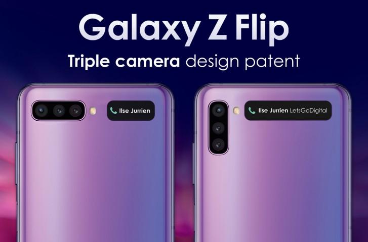 Zadní strana dalšího Galaxy Z flip